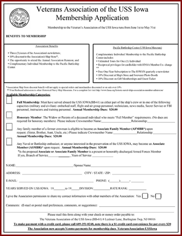 Veterans Association Membership Application form 4-12-2019